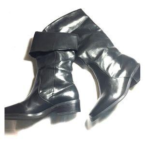 Soft black leather Laura Scott boots 7.5